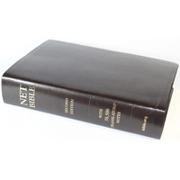 Net Bible Full Notes Second Ed, Bonded Leather, Mahogany