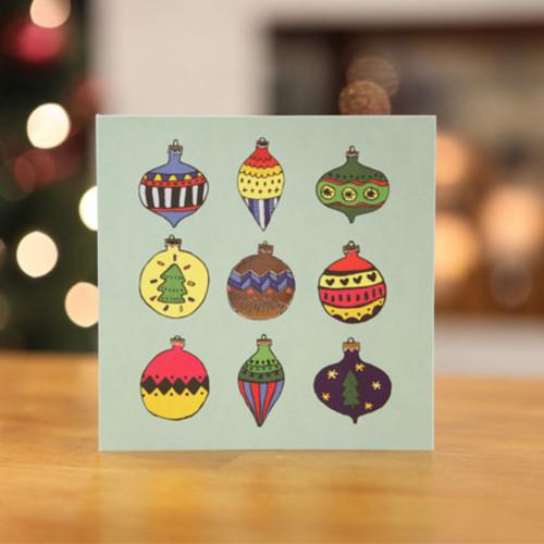 하베스터 크리스마스 카드 - 나인 오너먼트