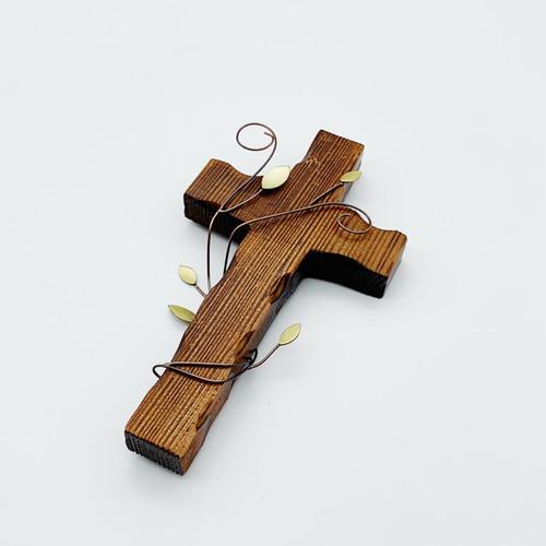 벽걸이 나무십자가(소) 넝쿨 / 자석부착겸용