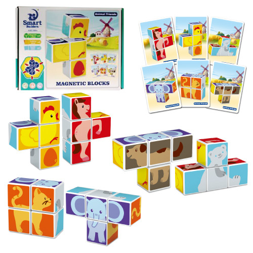 [키즈토이] 어린이 입체 마그넷 자석 퍼즐 블럭 세트 유치원 어린이집 어린이 주일학교 선물