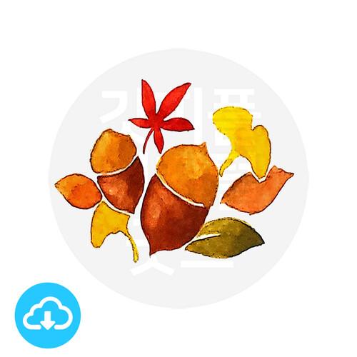디지털 그림자료 6 가을 이미지 (도토리,단풍잎) by 해피레인보우 / 이메일발송(파일)