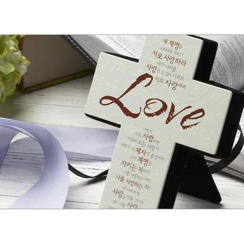 수입 미니 메탈 십자가 - Love (탁상용)