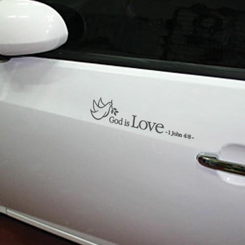 자동차 레터링-하나님은 사랑이시라