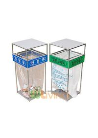 비닐걸이 분리수거함 - 덮개형 실내외겸용 100 (100리터)