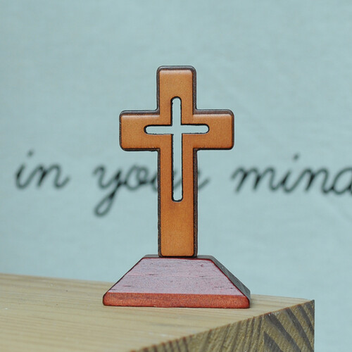 Mini Standing 투각 탁상십자가-1-Cross (탁상, 차량용)