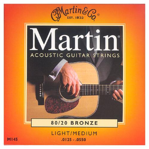 마틴 어쿠스틱 기타줄 LIGHT/MEDIUM (M145) - 80/20 Bronze