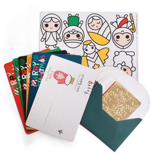 반짝반짝 크리스마스 스티커 DIY - 2 아기 예수 미니 카드