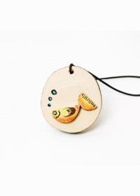 나무 공작놀이 - 물고기 목걸이 만들기(1세트/10개)
