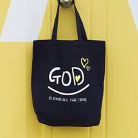[글로리월드] GOD 에코백 - 네이비