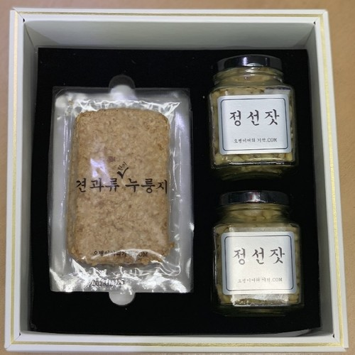 오병이어 황금잣 누룽지 선물세트
