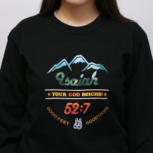 갓피플 맨투맨 티셔츠 - 이사야 52:7 (컬러)