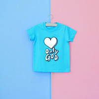 [2020글로리월드 티셔츠] 온니갓 - 스카이 블루 - (30벌이상 주문 가능)