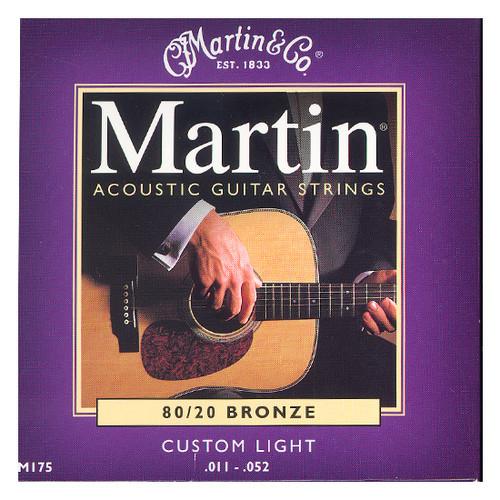 마틴 어쿠스틱 기타줄 CUSTOM LIGHT (M175) - 80/20 Bronze