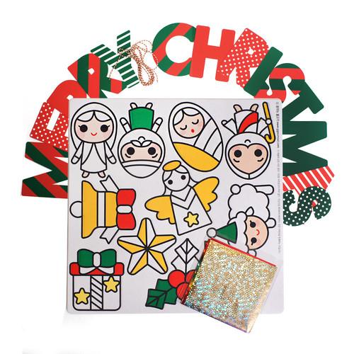 반짝반짝 크리스마스 스티커 DIY - 3 아기 예수 가랜드