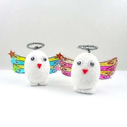 [만들기패키지] 클레이 달걀공예 천사 5인용(달걀모형10개)