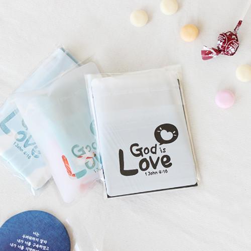 선물포장 비닐 (접착식 20매)_GOD is LOVE