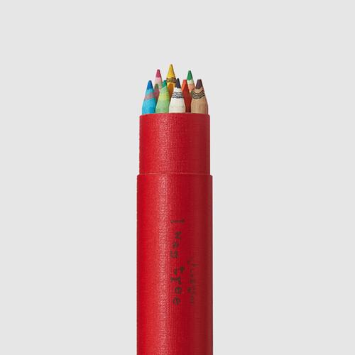 [더사랑 보킷] 친환경문구 재생종이 색연필 (10pcs) 레드케이스