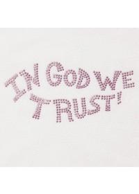 핫 픽스 큐빅 티셔츠 IN GOD WE TRUST(LC9045)-성인용