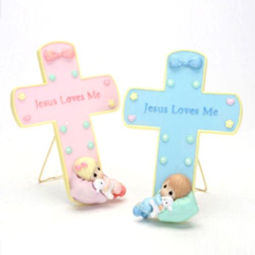 [프레셔스모먼트]십자가 스탠드 벽걸이-Jesus Love Me/인테리어 소품