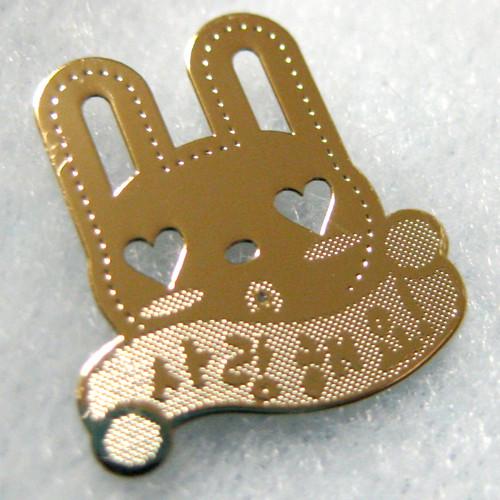 (24k 전자파 차단 스티커+카드) 토끼씨의 메시지 - Smile / Yes, I can / 사랑해요