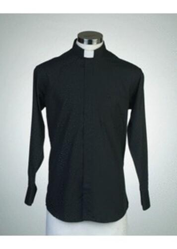 목회자셔츠-오메가셔츠 검정 (로만카라)