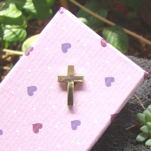 뺏지-십자가/금도금