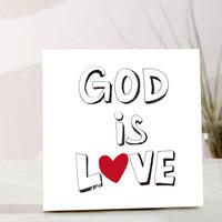 (말씀자작나무액자) GOD IS LOVE 입체