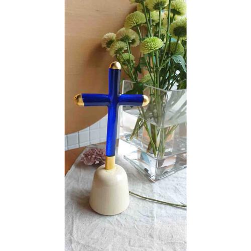 유리공예 십자가 (골드 L)