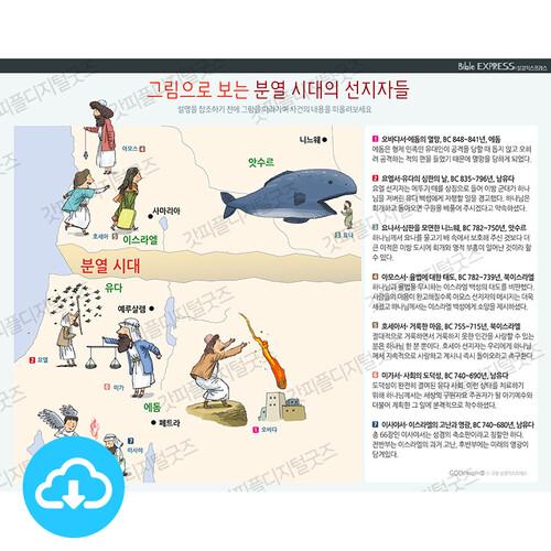 성경 인포그래픽 46 그림으로 보는 분열시대 선지자 by 규장굿즈 / 이메일발송(파일)
