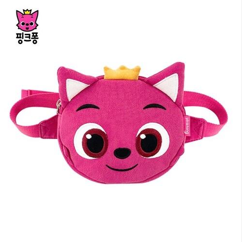 핑크퐁 원더스타 원형 힙색 아동 크로스 백