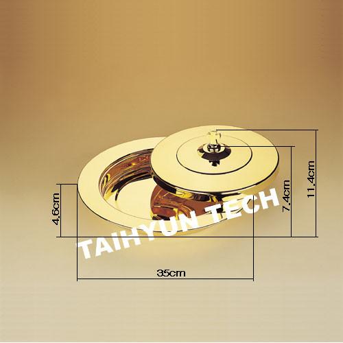 금 떡그릇 THG-26 (밑판+뚜껑 세트)