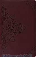 ESV: Premium Gift Bible (TruTone, Chestnut, Filigree Design, Red)