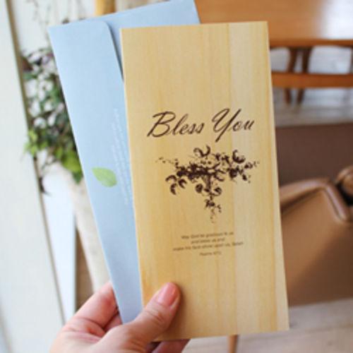 축복 카드세트-현금,상품권선물가능(natural wood)-피터카페
