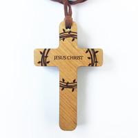 에클레시아/나무십자가목걸이