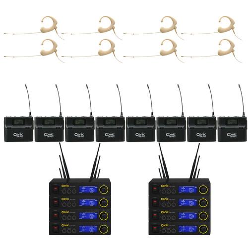 CONIC CMP1400 / QUEAUDIO DA22BE[이어셋] 8SET[채널/랙케이스세팅 및 악세사리옵션추가]