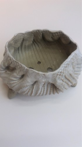 도자기 줄무늬 화분 (대)