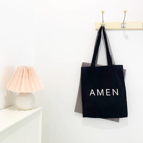 [로프트이] AMEN 아멘 시그니처 에코백 _ 블랙