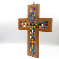 십자가 (멀티칼라 : 도자기)