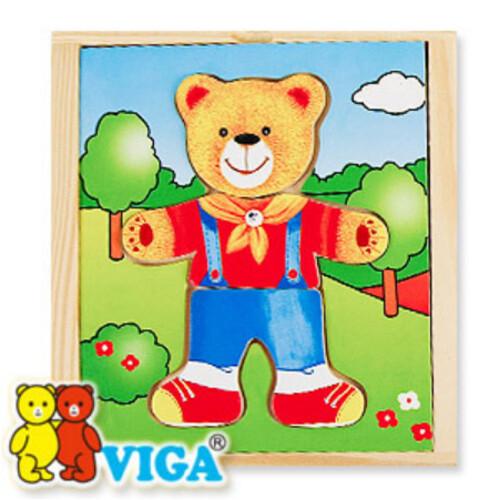 비가 원목 패션 퍼즐 - 꼬마 곰돌이