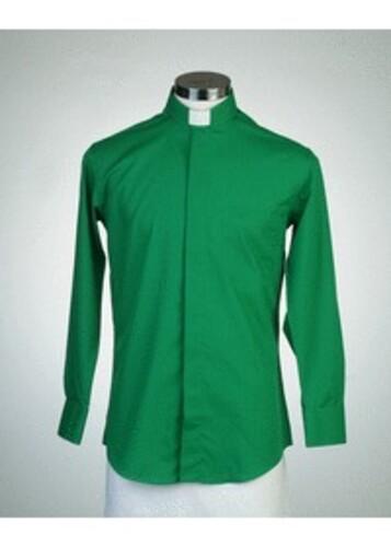 목회자셔츠-오메가셔츠 녹색 (로만카라)