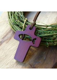 십자가와 익투스 목걸이(투각)