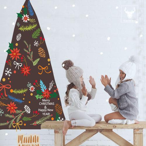 [한정판-북유럽스타일] KWC-2104 크리스마스트리와 선물/눈사람/겨울/벽면/인테리어