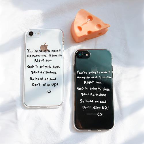 [MADE Jelly] Dont Give up (Galatians 6:9)  갈라디아서 말씀 스마트폰 젤리케이스