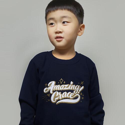 갓피플 맨투맨 티셔츠 - 어메이징 그레이스