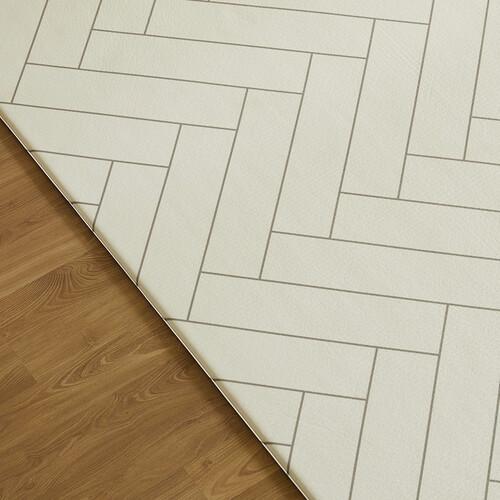 PVC 양면 바닥 매트 - 모던헤링본