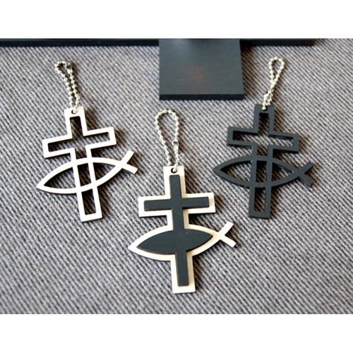 익투스 십자가 열쇠고리