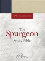 KJV: Spurgeon Study Bible, Navy/Tan Cloth-over-Board (HB)