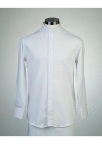 목회자셔츠-알파셔츠 흰색 (로만카라)