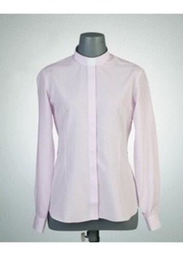목회자셔츠-오메가셔츠 여성핑크 (로만카라)