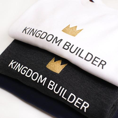 갓피플 맨투맨 티셔츠 - 킹덤빌더 : 하나님나라를 세워가는 사람